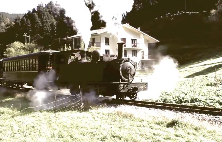 Imagenes aereas del museo ferroviario trenes